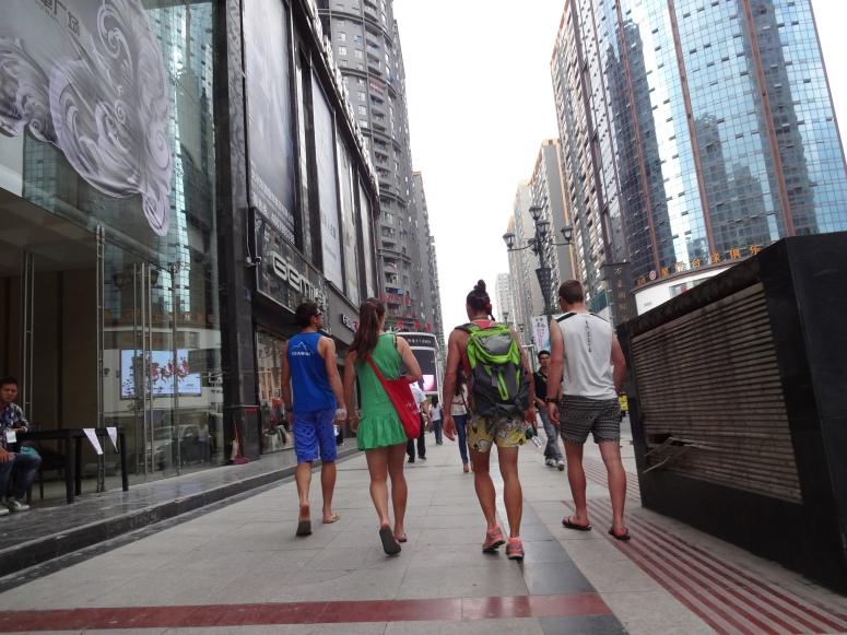Heading downtown Zunyi for a massage