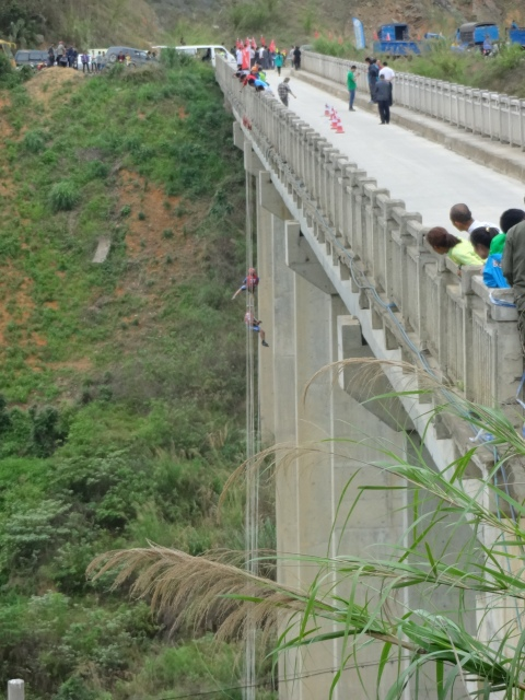 The abseil off the bridge