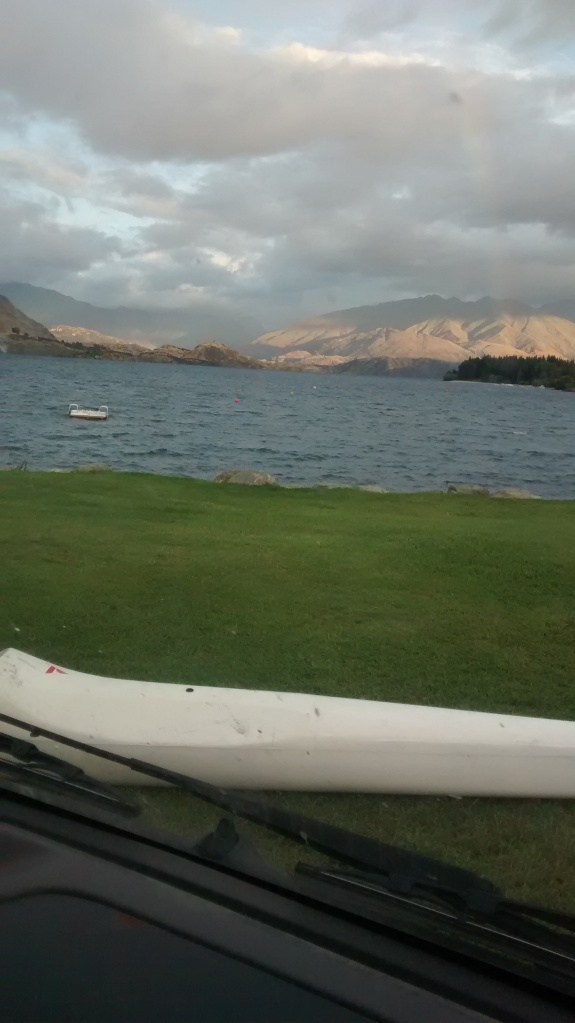 Considering going for a recovery paddle on Lake Wanaka with Marcel Hagener (I lasted 30mins!)