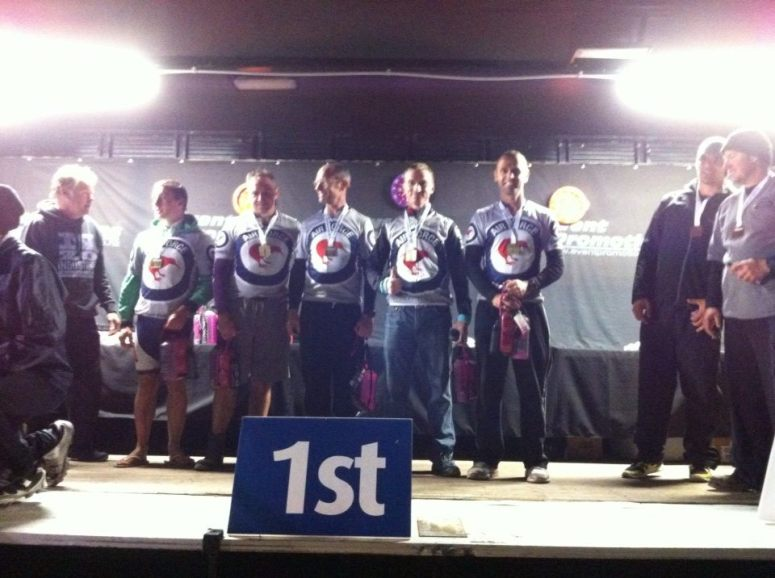 Us on the podium in 2014 - no photo this year but we were there