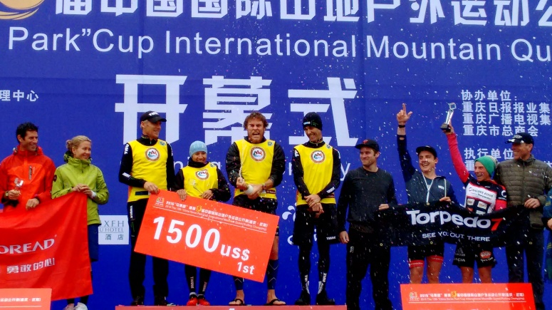 Our first taste of Wulong podium for the Prologue day