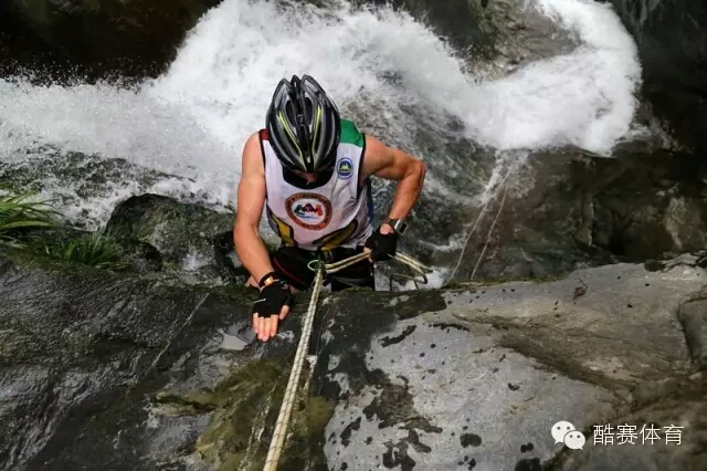 Me abseiling down one of the waterfalls