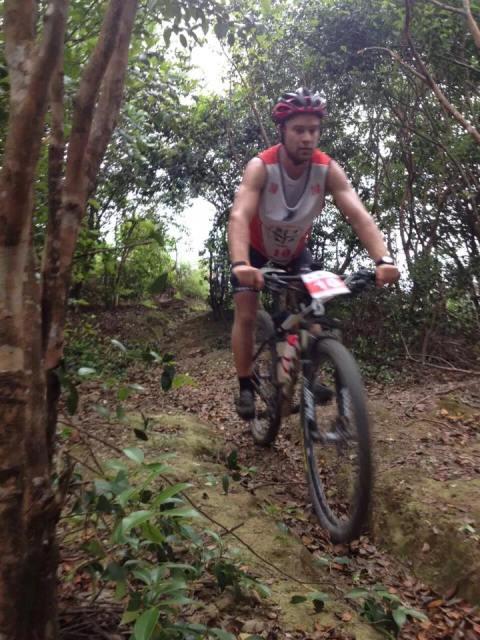 Hamish on the bike