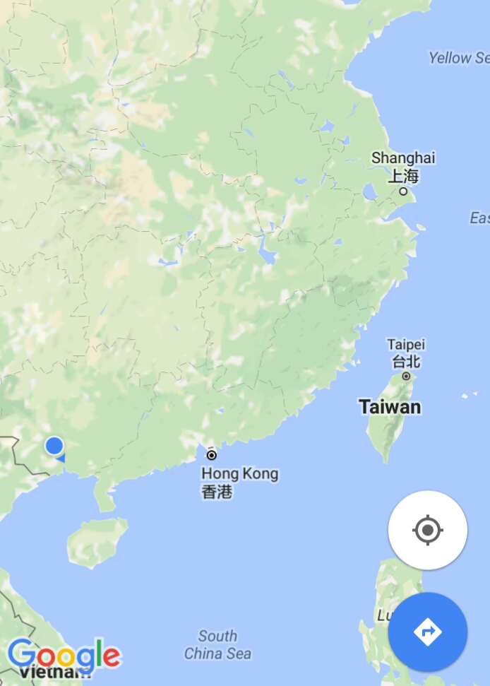 Shanghai to Nanning was a fair haul on it's own. Here's to hoping our bikes are somewhere on this map