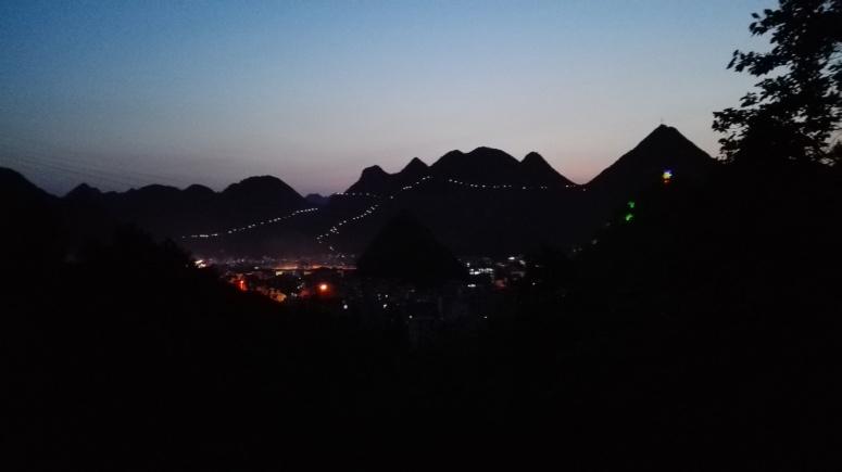 Leye town at night
