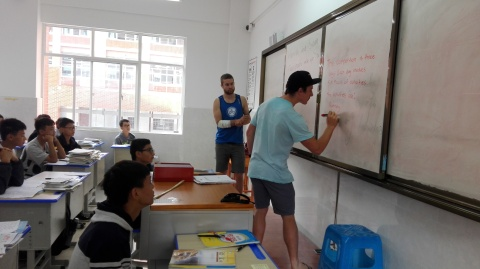 We taught 3X 40min English classes whilst here in WengAn already!